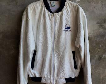 Vintage Worldcup France 98 Bomber Jacket Size M