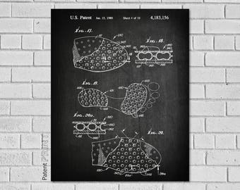 Track & Field Shoe Art - Running Wall Art - Shoe Insole Wall Decor - Running Poster - Track Print - Track - Track Decor - ST156