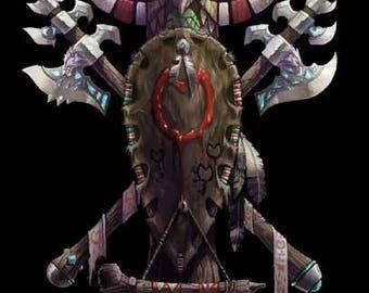 World of Warcraft tauren crest wall art