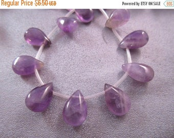 ON SALE 15% OFF Amethyst Teardrop Beads 25pcs