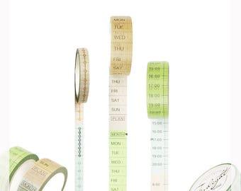 Timeline Maker Tape, Useful, Week, 24 Hours, Schedule, Stationery