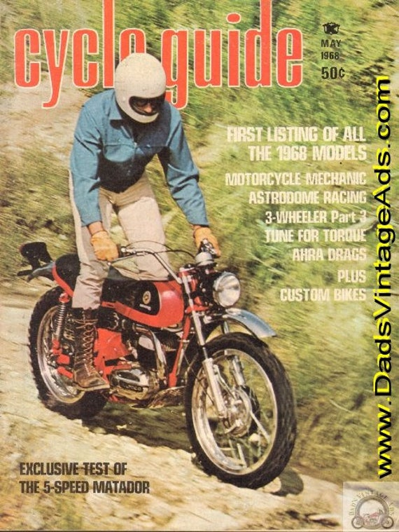 1968 May Cycle Guide Motorcycle Magazine Back-Issue #6805cg
