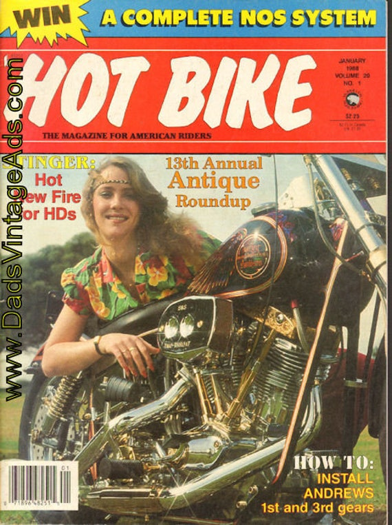 1988 January Hot Bike Motorcycle Magazine Back-Issue #8801hb