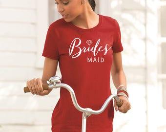 Bridesmaid shirts, Bridesmaid T-Shirts, Bachelorette Party Shirts, Bridal Party Shirt. Bride Wedding, Bridal Party, Hat, Mug Decal