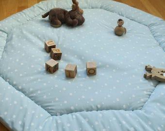 Octagonal Park rug - blue - to order