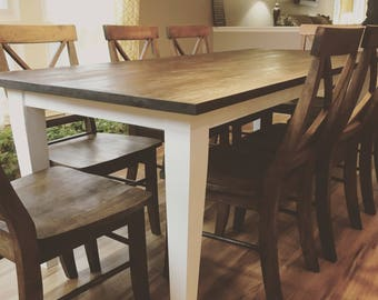 Farmhouse Tapered Leg Table, Wood Table, Dining Table, Rustic Table, Farmhouse Table, Reclaimed Wood