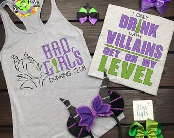 Food And Wine Shirt, Disney Drinking Shirt, Bad Girl's Club, Disney Food And Wine Shirt, Epcot Food And Wine, Villain Shirt,  Epcot Drinking