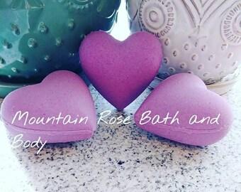 Purple Hearts Bath Bombs