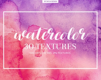 Watercolor digital paper, Watercolor texture, Watercolor background, Pink watercolor, splashes, watercolor clipart, Watercolor overlays