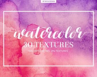 Watercolor digital paper, Watercolor texture, Watercolor background, Pink watercolor, splashes, watercolor clipart, Watercolor overlays