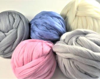 Super Chunky Wool,Merino Wool Yarn,Bulky Merino Wool Yarn,Arm Knitting Yarn, Giant Knit Yarn