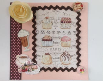 Handmade card, 3D, all occasions, birthday, chocolate, cakes, treats