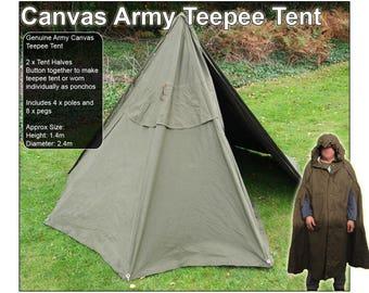 Canvas Poncho Teepee Tent