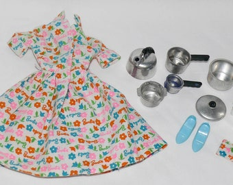 Vintage Barbie Outfit #1634 Barbie Learns to Cook