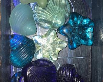 Sea glass shells assortment