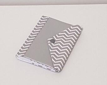 Agenda 2018 faux leather/silver cotton gray and white Chevron
