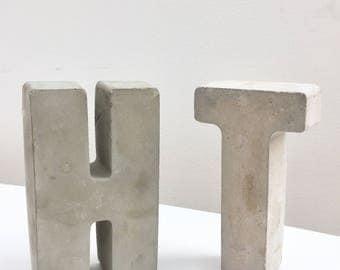 Large concrete cement letters