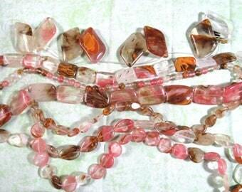 1 Strand Synthetic Watermelon Stone Beads (B410i1-7)