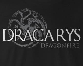 Dracarys Game of Thrones Tee,  Game of Thrones Targaryen T-shirt, Game of Thrones Targaryen T-Shirts Game of Thrones Targaryen logo GOT Tee