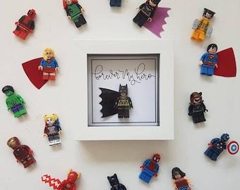 Batman / Thor / Superman / Hulk / Marvel Frame / Boyfriend / Dad / Husband / Valentines day Birthday Anniversary gift / Birthday Lego Gift