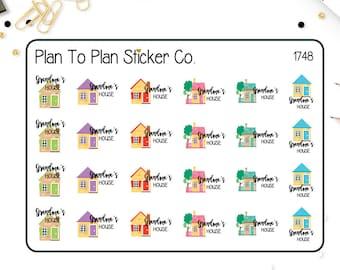 1748~~Grandma's House Planner Stickers.