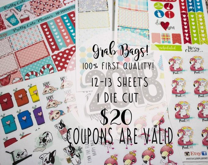 Grab Bags - Weekly Planner stickers - Planner Sticker Grab Bag - Weekly Stickers - Stickers - fits Erin Condren - fits Happy Planner