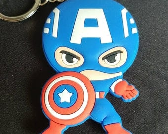 Captain America Double-Sided Keychain