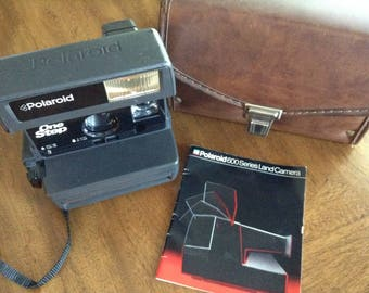 Vintage Polaroid One Step with Original Case and Booklet