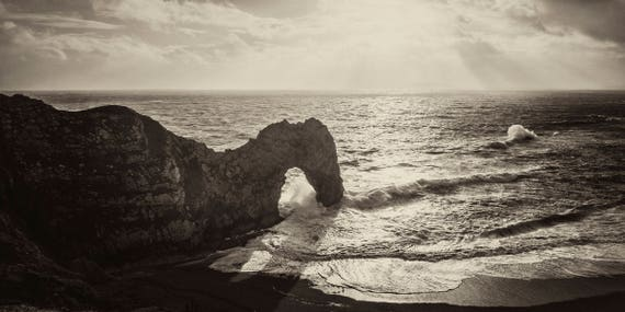 DURDLE DOOR 7. Durdle Door Print, Seascape Print, Dorset Coastline, Panoramic Print, Limited Edition, Giclee Print,