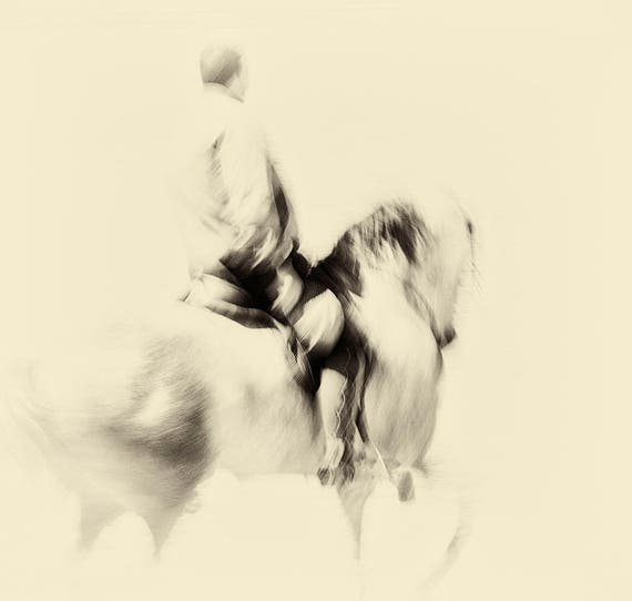 THE SPANISH RIDER. Horse Photography, Equine Print, Square Print, Spanish Print, Fine Art photography.