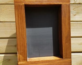 Handmade Wood Chalkboard Frame with Dark Walnut Stain (Wall hanging or small freestanding sign)