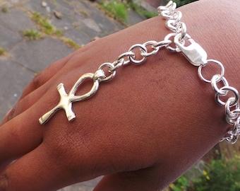 Sterling Silver bracelet - The Ankh Bracelet