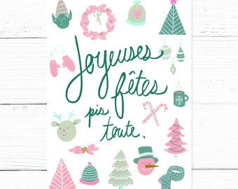 Christmas card // Joyeuses Fêtes pis toute
