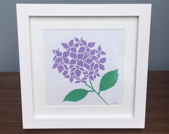 Hydrangea flower art framed / birthday present / Mother's Day gift / Gardener gift
