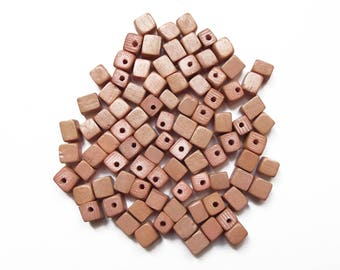 20 wooden blocks light color natural 5 mm / high quality