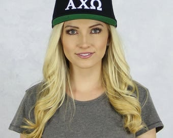 Alpha Chi Omega Snapback Hat in Black