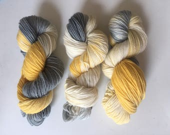 Hand Dyed Wool Yarn