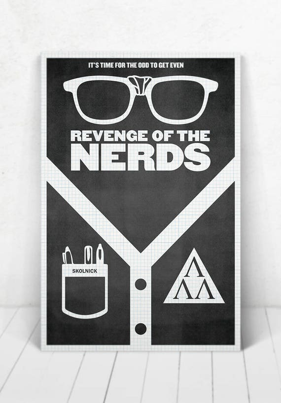 Revenge Of The Nerds Movie Poster - Illustration / Revenge Of The Nerds Poster/Nerds
