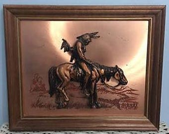 End of the Trail Copper Wall Hanging by John Louw
