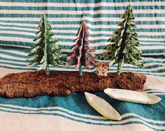 Table decor - cottage in the forest River