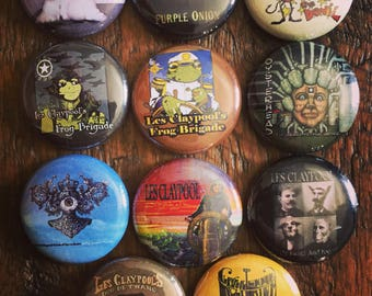 Les Claypool buttons