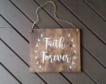 Personalized Wood Sign, Custom Wood Sign, Faith Signs, Wood Signs, Home Decor, Wall Decor, Wall Hangings, Wreath Signs, Rustic Signs