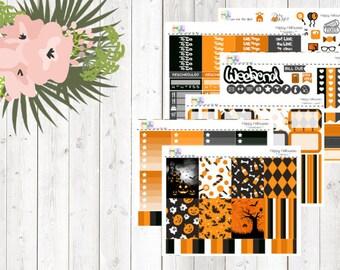 weekly kit - Happy Halloween (Erin Condren and Happy Planner Stickers)