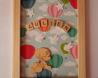 Personalized wall table * balloon * for a child's room *.