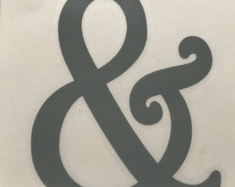 Ampersand Vinyl Decal Sticker/And Symbol/And/Vinyl/Decal/Sticker/Yeti Decal