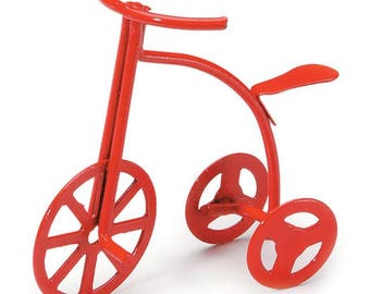 Miniature - Red Tricycle - 1-5/8 inches