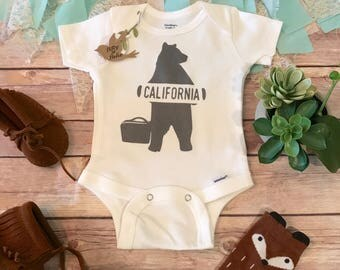 California baby etsy bear onesie hitchhiking california bear california onesie baby shower gift rustic negle Image collections