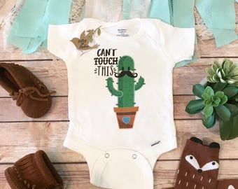 Cactus Onesie®, Cant Touch This Onesie, Baby Shower Gift, Hipster Baby Clothes, Mustache Onesies, Funny Baby Onesies, Cute Baby Boy Clothes