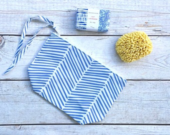 Wet Bag Pouch - Blue and White Painted Arrows, Reusable, Washable, Diaper Storage Bag, Mom Clutch, Bikini Bag, Travel Bag, Cosmetic Bag