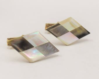 Black and White Mother of Pearl Cuff Links